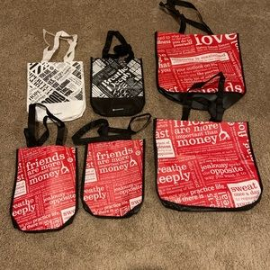 Lululemon shopping bags x 6 brand new